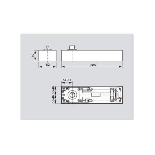 small resolution of stainless steel bts75v floor spring door closer