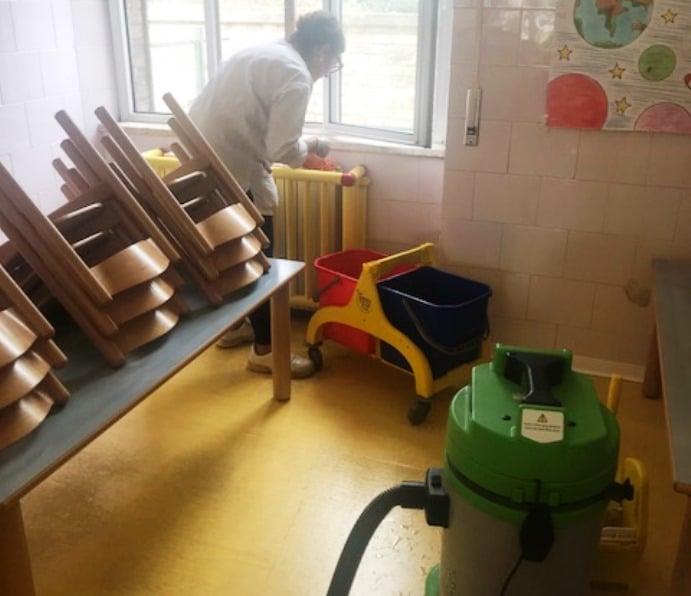 Pulizia Scuola Materna