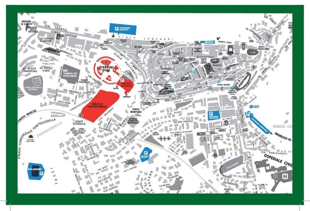 Cartina Programma Eventi Villaggio Salute Macerata