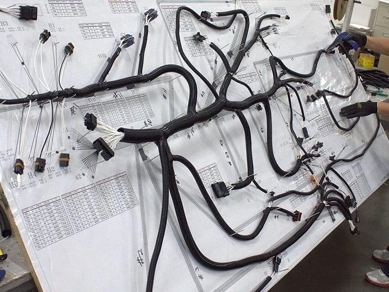 wire harness board into
