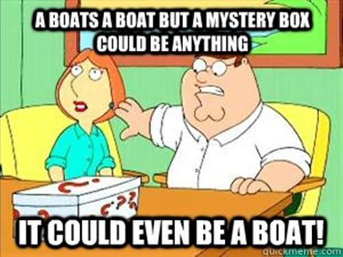 caja o barco, family guy