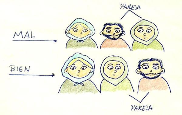 Mujer en Irán, cómo sentarse en el bus