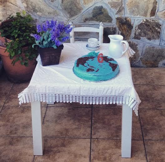 simulando mesa de cumpleaños