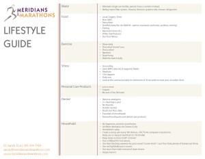 Meridians & Marathons Lifestyle Guide