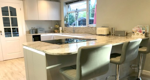 Matte Cashmere Second Nature Tomba Kitchen in Verwood, Dorset