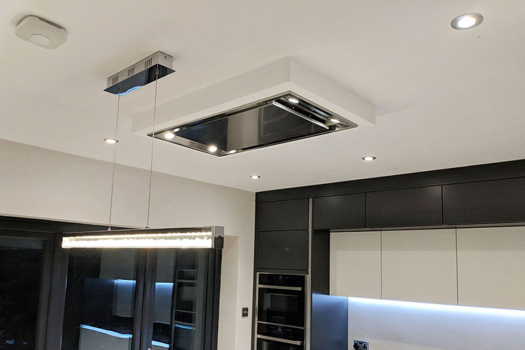 Bosch Built-In Serie 8 Ceiling Hood - supply and install by Meridien Interiors, Dorset