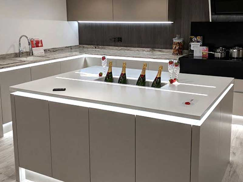 Click to skip to Corian and solid surface kitchen worksurfaces