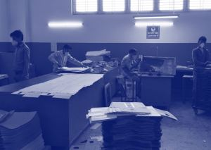 Factory workers in India