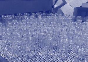Glass on conveyor belt