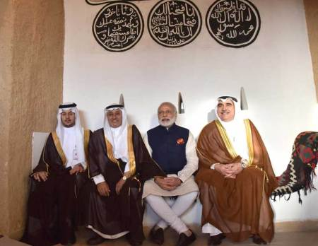 Prime Minister at Masmak Fortress in Saudi Arabia.