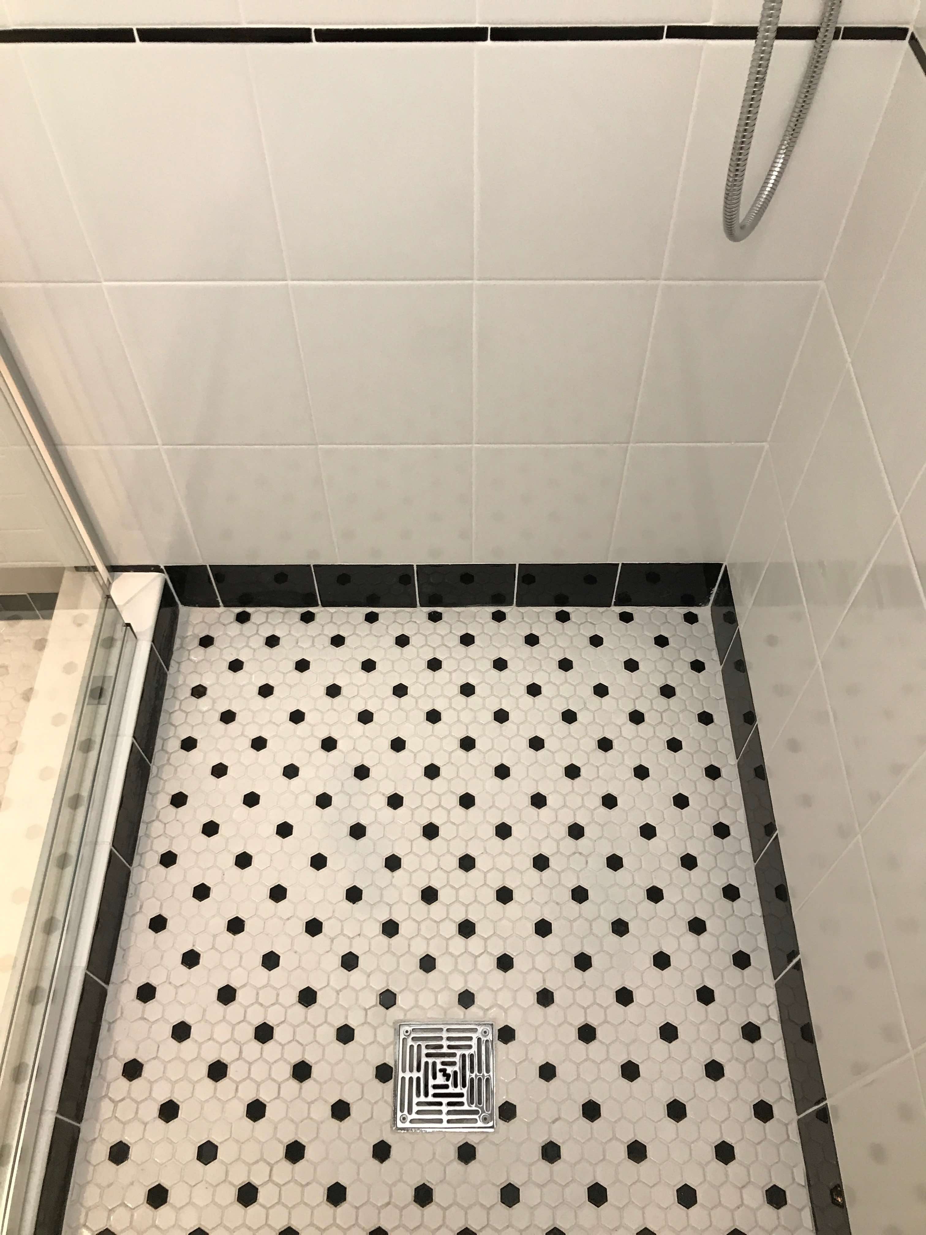 Hex Tile for a Shower Wall - Merit Construction San Diego_0233-mc ...