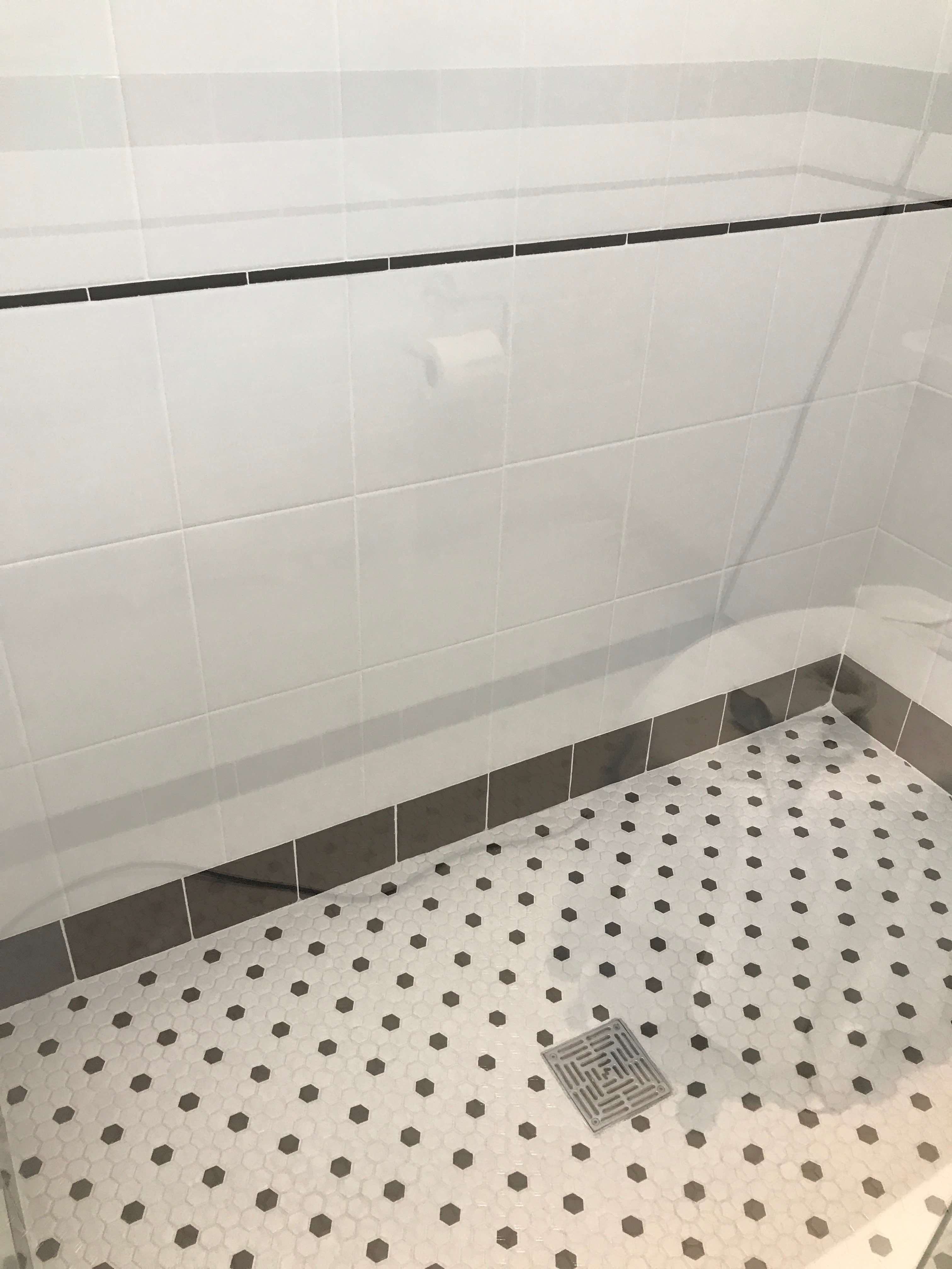 Hex Tile for a Shower Wall - Merit Construction San Diego_0238-mc ...