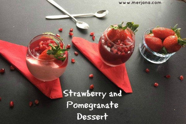 Strawberry And Pomegranate Dessert