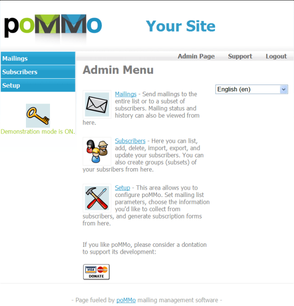 poMMo email marketing