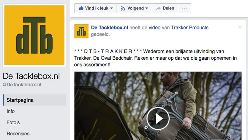 De Tacklebox in Beilen Facebook Post