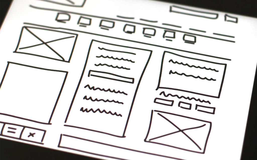 Wireframe webdesign