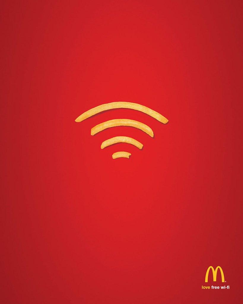 Gratis Wifi Advertentie MC Donalds