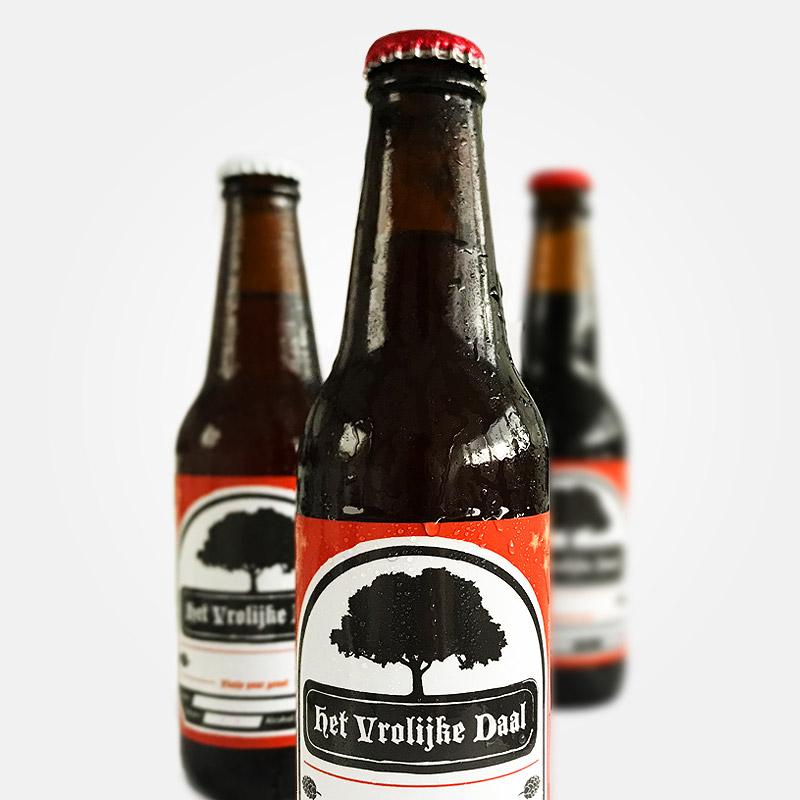 Vormgeving Bier etiket 'Het Vrolijke daal'