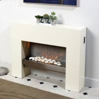 Free Standing Fire Surround White Electric MDF Fireplace ...