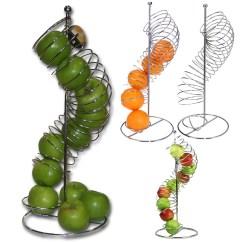 Fruit Basket For Kitchen Towel Holder Metal Apple Orange Spiral Large Details About Rack