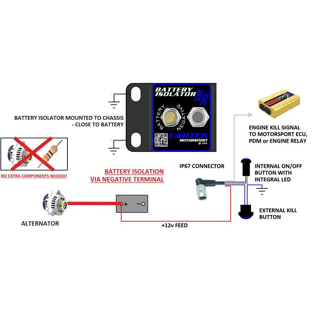 medium resolution of cartek xr solid state battery isolator kit
