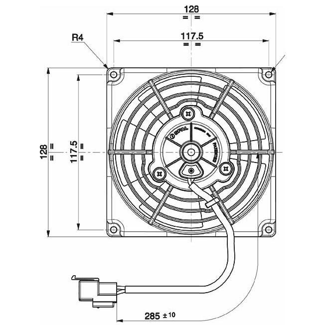 Spal Radiator Fan 5 Inch Diameter Blow