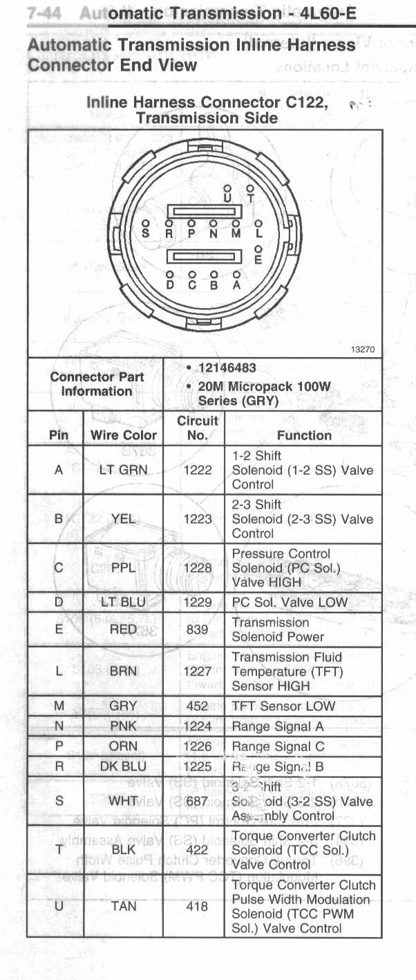 4l60e wiring harness diagram