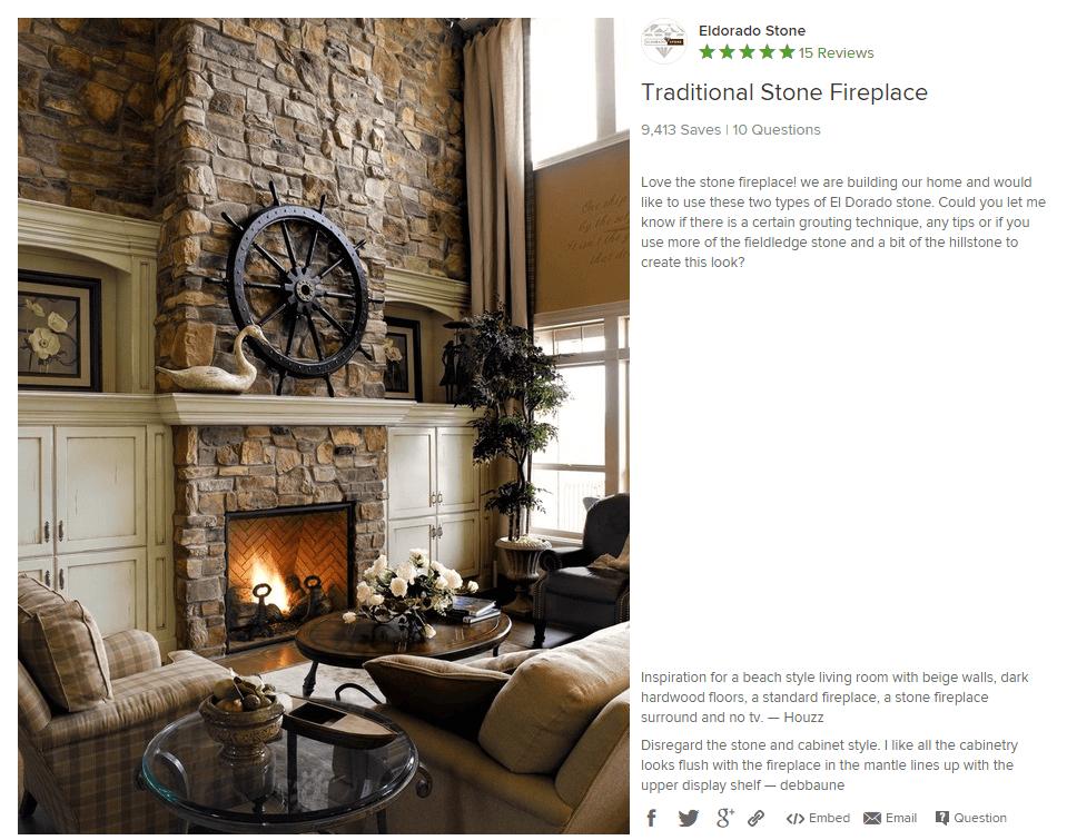 houzz living room no fireplace soft green paint color for merlot marketing eldorado stone review