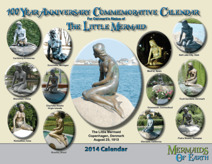 The Little Mermaid Centennial Calendar