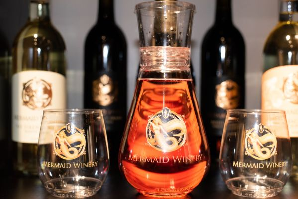 Recyclable Wine Cups and Decanter