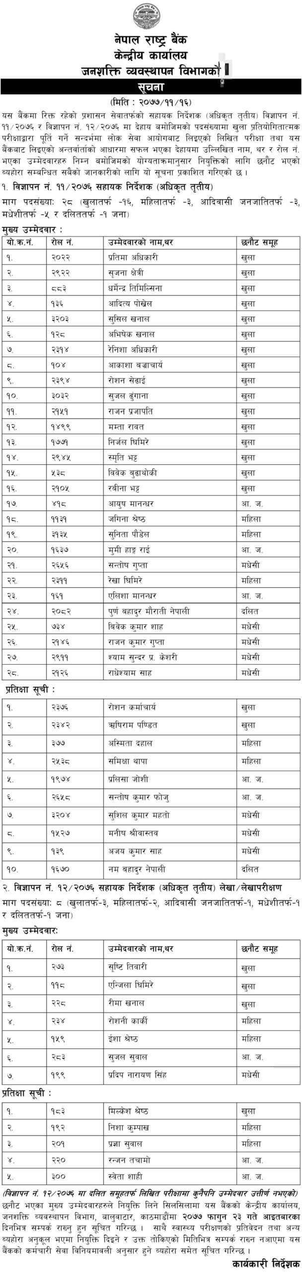 nepal rastra bank assistand director final result