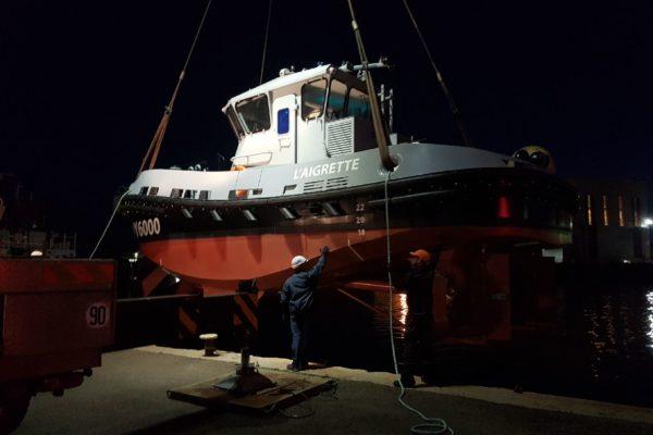 Le remorqueur SEEM 12-800ST « L'Aigrette » en essais à Toulon