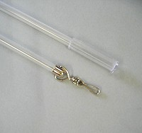 clear plastic draw rod 150cm long