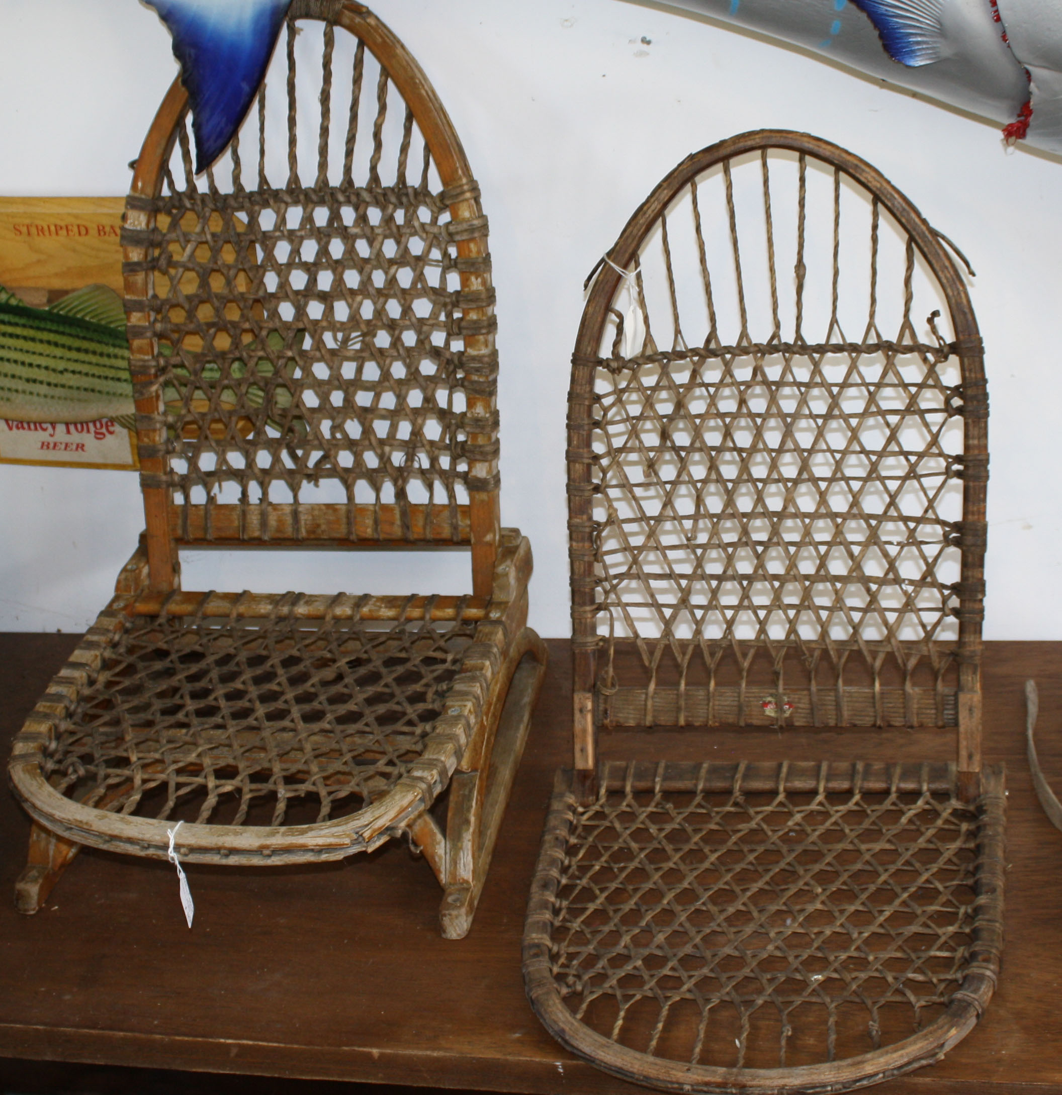 canoe chair comfortable reading for bedroom tubbs camp and seats jpg merrill s auction