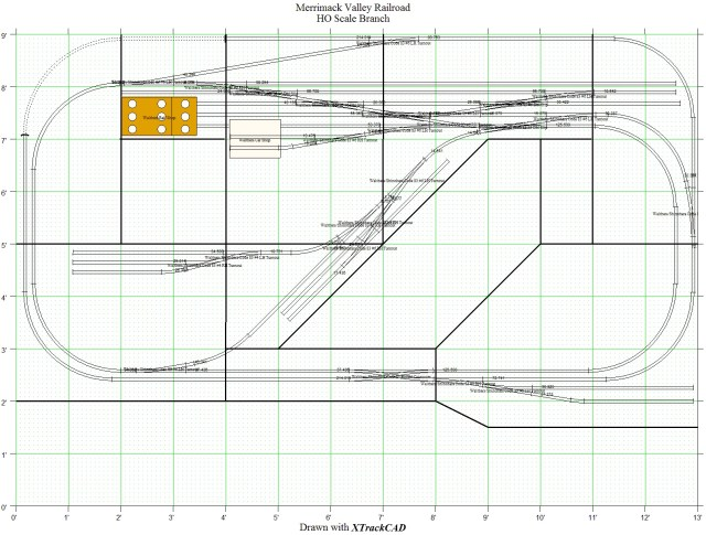 XTrkCAD HO Scale Layout