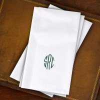 Designer Paper Linen Guest Towels with Monogram