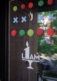 DIY birthday party door decorations from contact paper ...