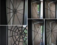 DIY Halloween Front Door Decoration: Subtle Spiderwebs ...