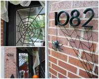 DIY Halloween Front Door Decoration: Subtle Spiderwebs ...
