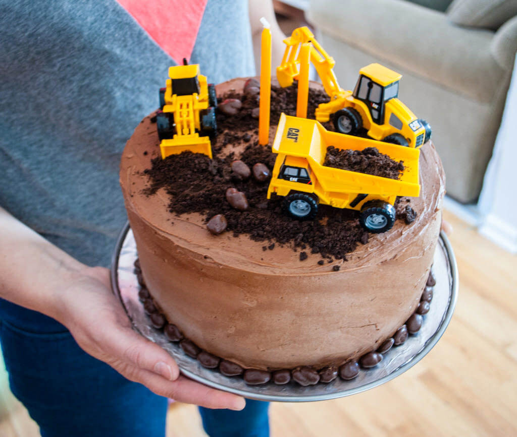 Easy Construction Birthday Cake Merriment Design