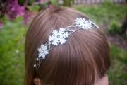 diy snowflake frozen headband