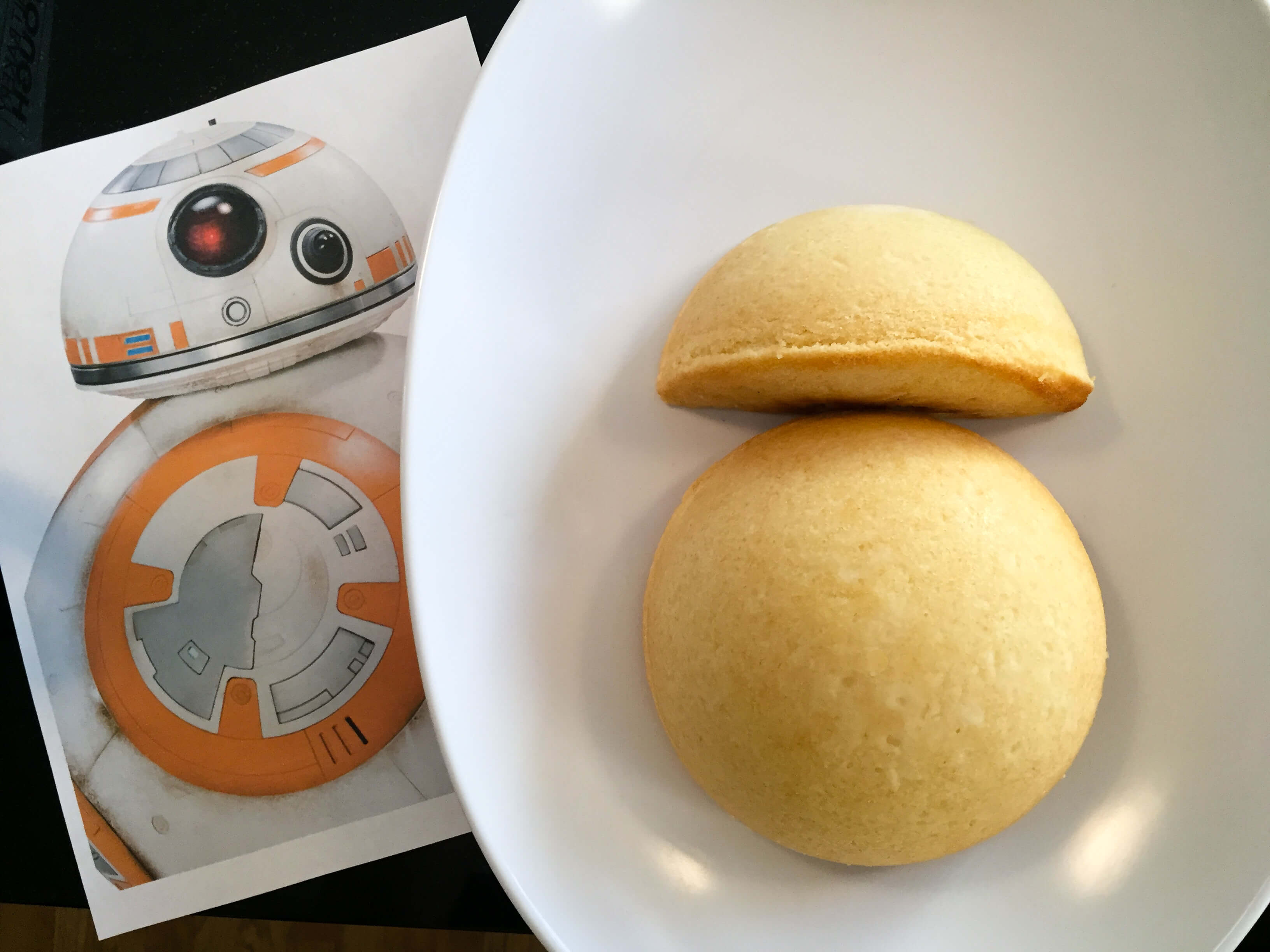 How To Make An Easy Star Wars Bb 8 Birthday Cake For A