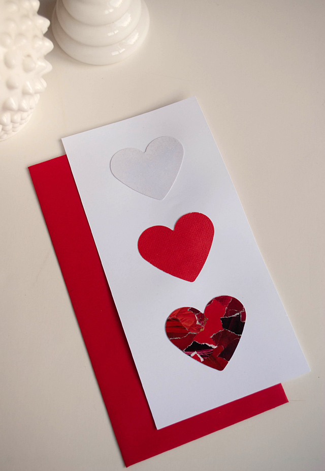 Make DIY Valentine Days Cards Using Recycled Magazines