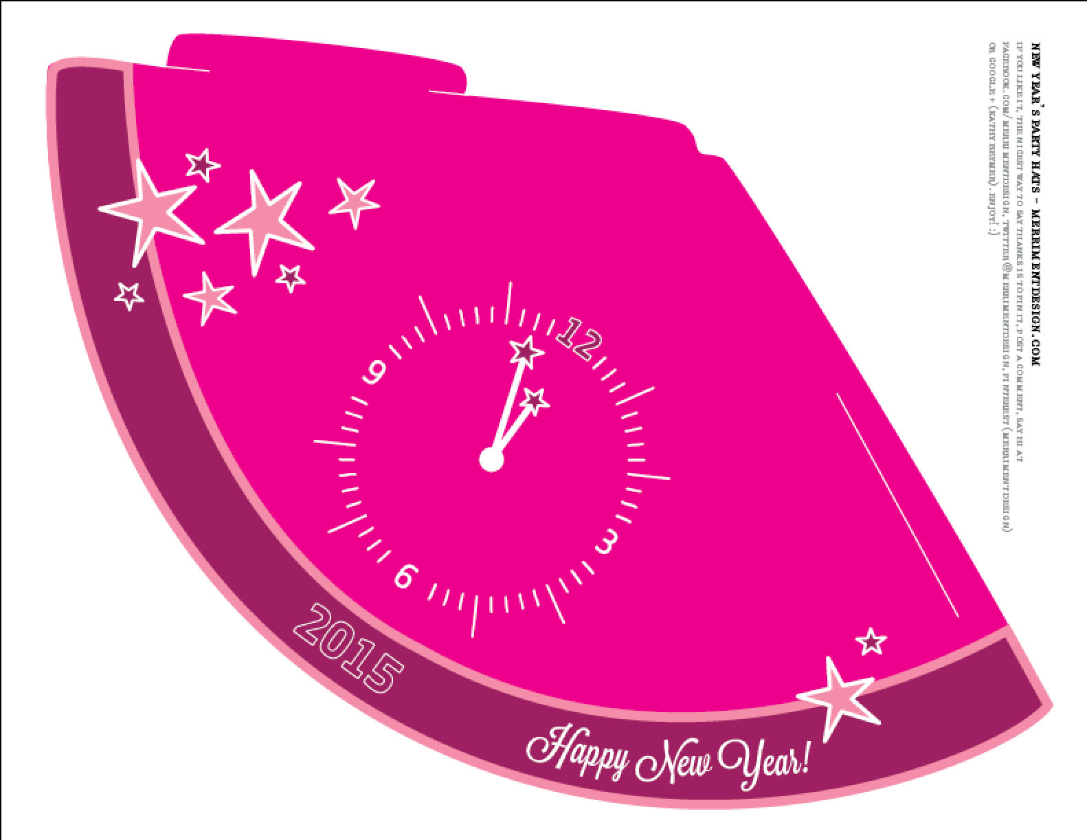 Make New Year S Eve Party Hats Free Printable Template