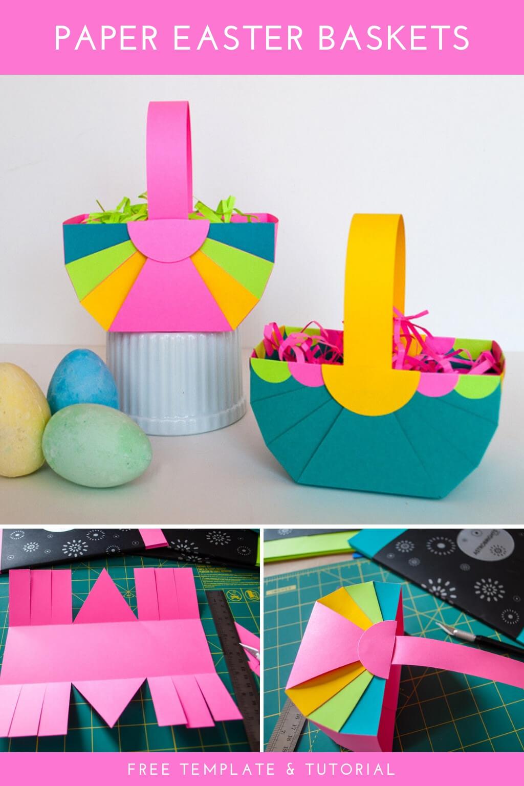Diy Easter Basket Template Easy Easter Crafts Merriment Design