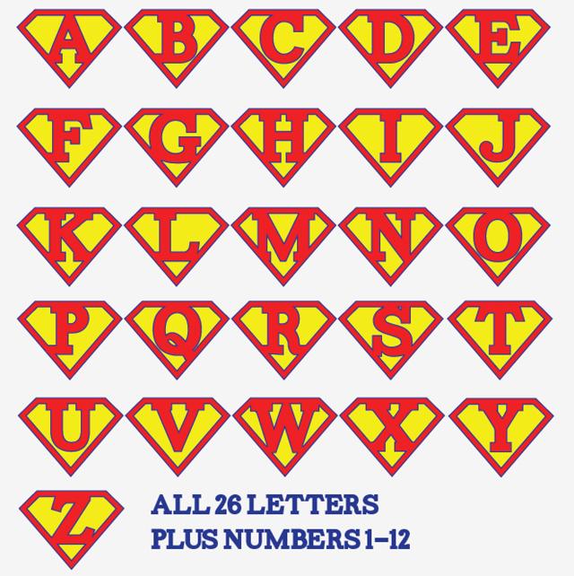 printable superman birthday banner
