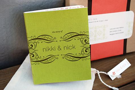 Smythe Sewn Letterpress Wedding Invitation Book