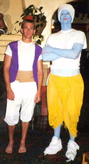 mystery costume ideas - Carleen's photo of Aladdin and his Genie