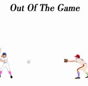 Out Of The Game baseball murder mystery invite