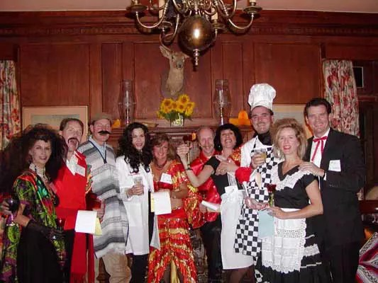 Murder mystery party photo